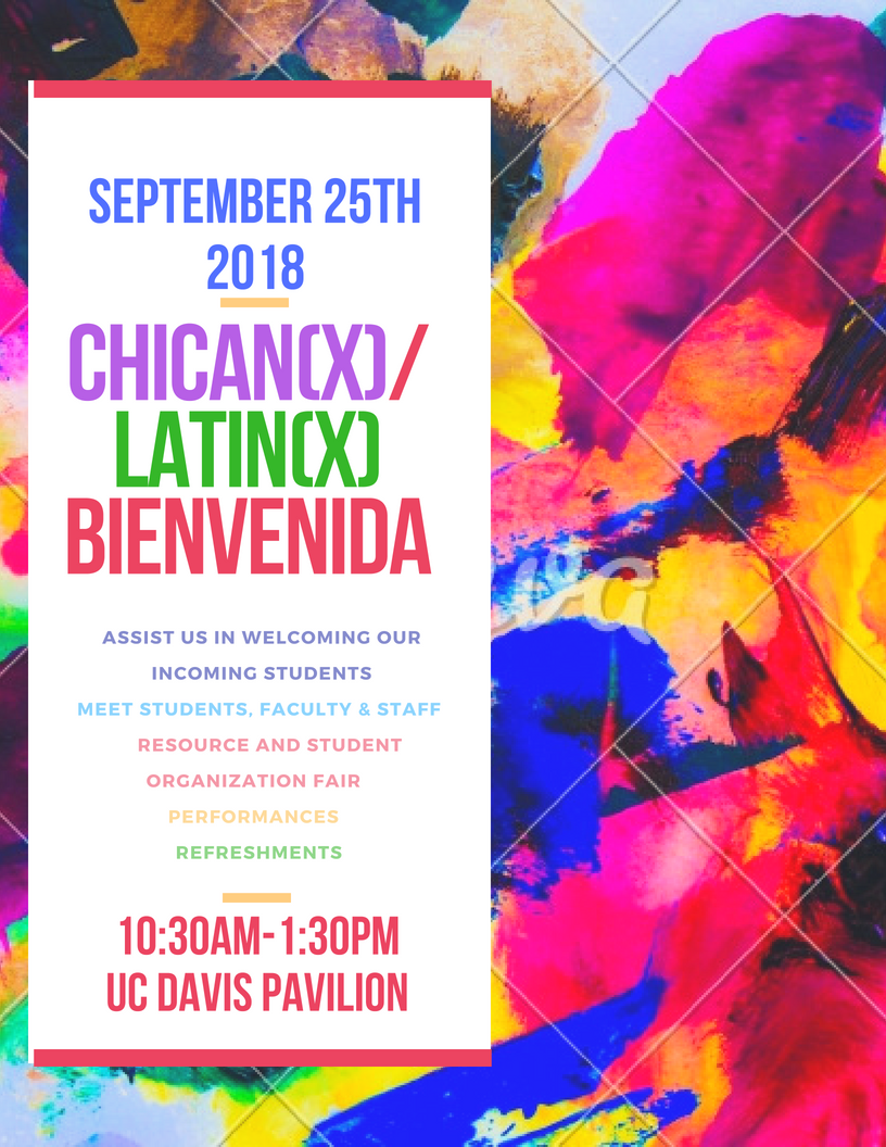 2018 Chican(x)/Latin(x) Fall Welcome
