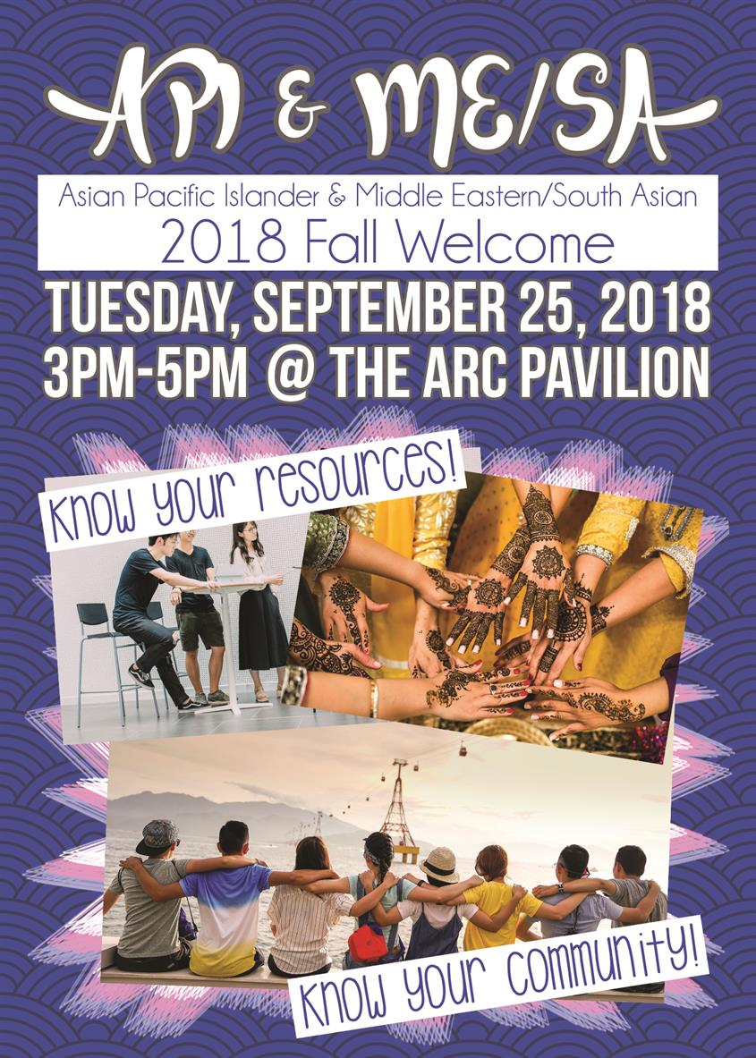 Asian Pacific Islander & Middle Eastern/South Asian Fall Welcome