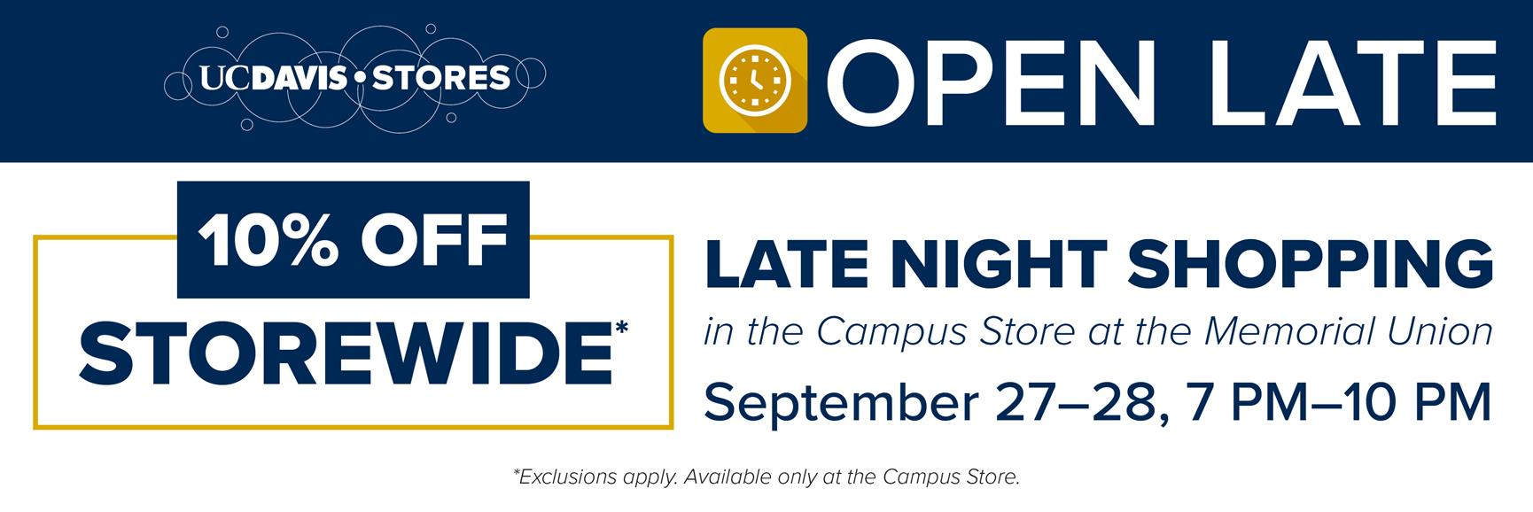 Late Night Shopping (Campus Store Only)