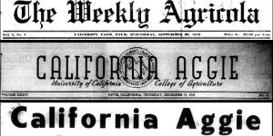 The California Aggie: A Century of Headlines