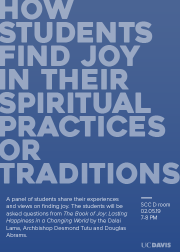 "Book Project: ""How Students Find Joy in Their Spiritual Practices or Traditions"""