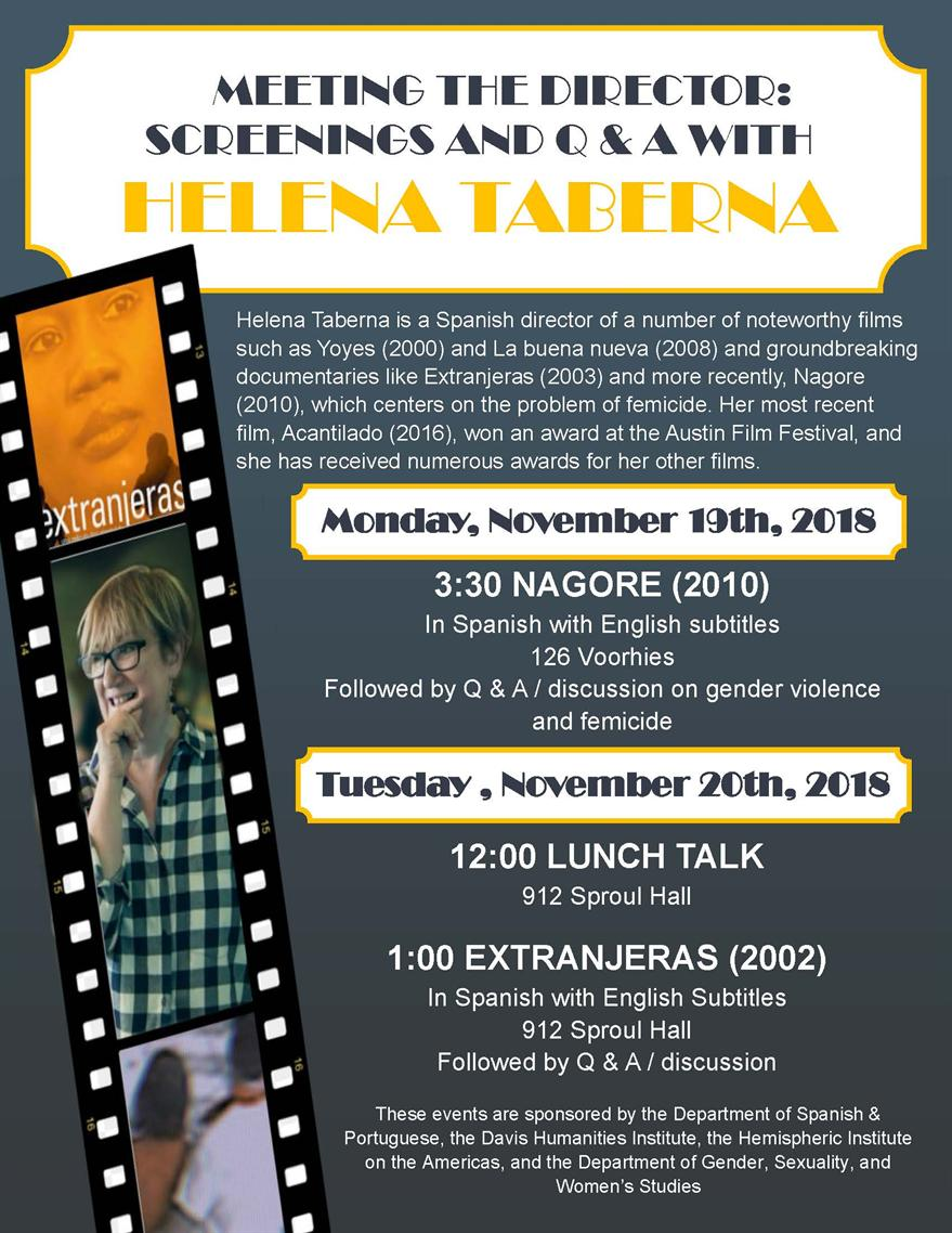 """Film Screening: """"Extranjeras"""" and Q&A with Director Helena Taberna"""