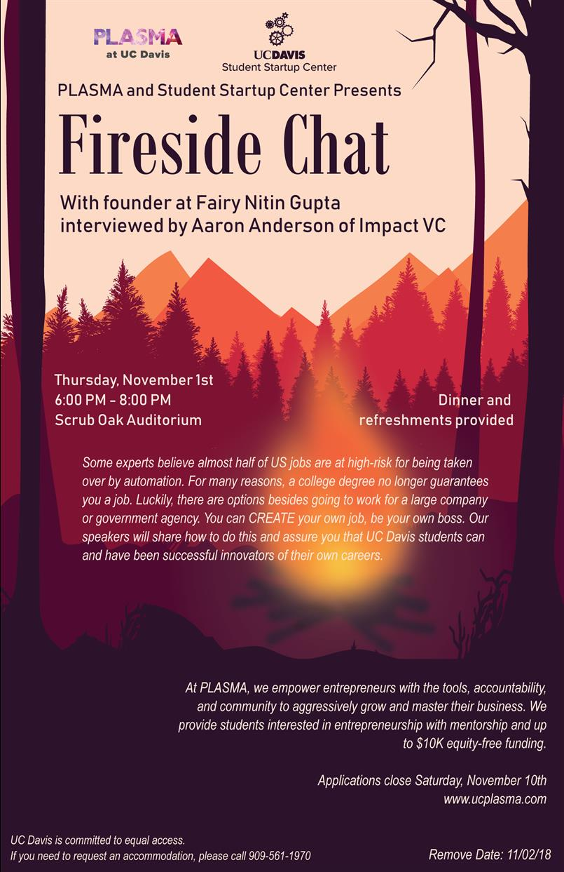 Fireside Chat with Davis Entrepreneurs and Investors