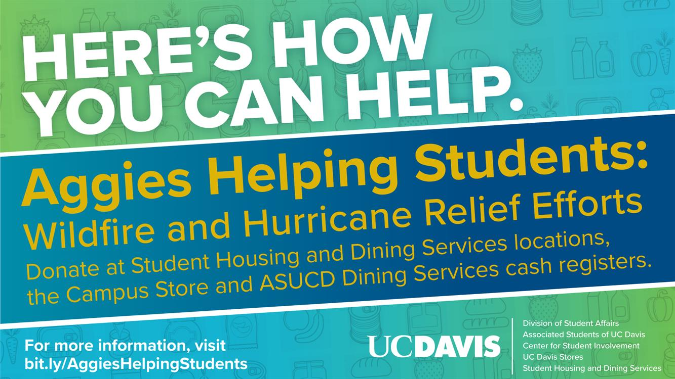 Aggies Helping Students: Wildfire and Hurricane Relief Efforts