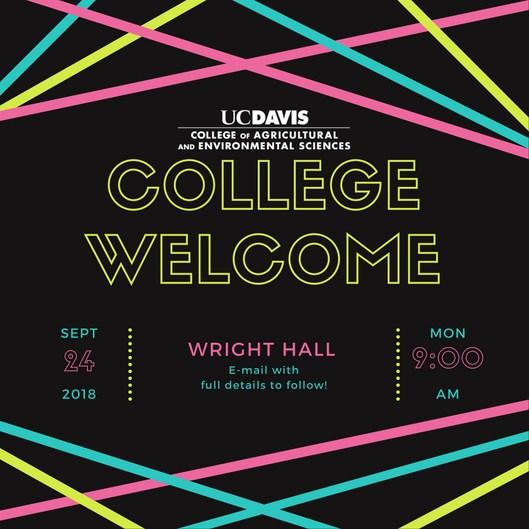 CA&ES College Welcome