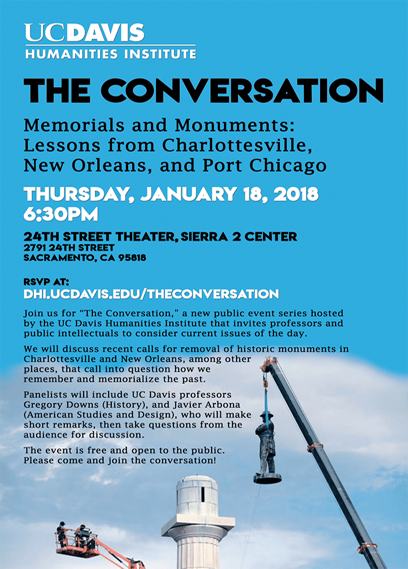 "The Conversation -- ""Memorials and Monuments: Lessons from Charlottesville, New Orleans, and Port Chicago"""