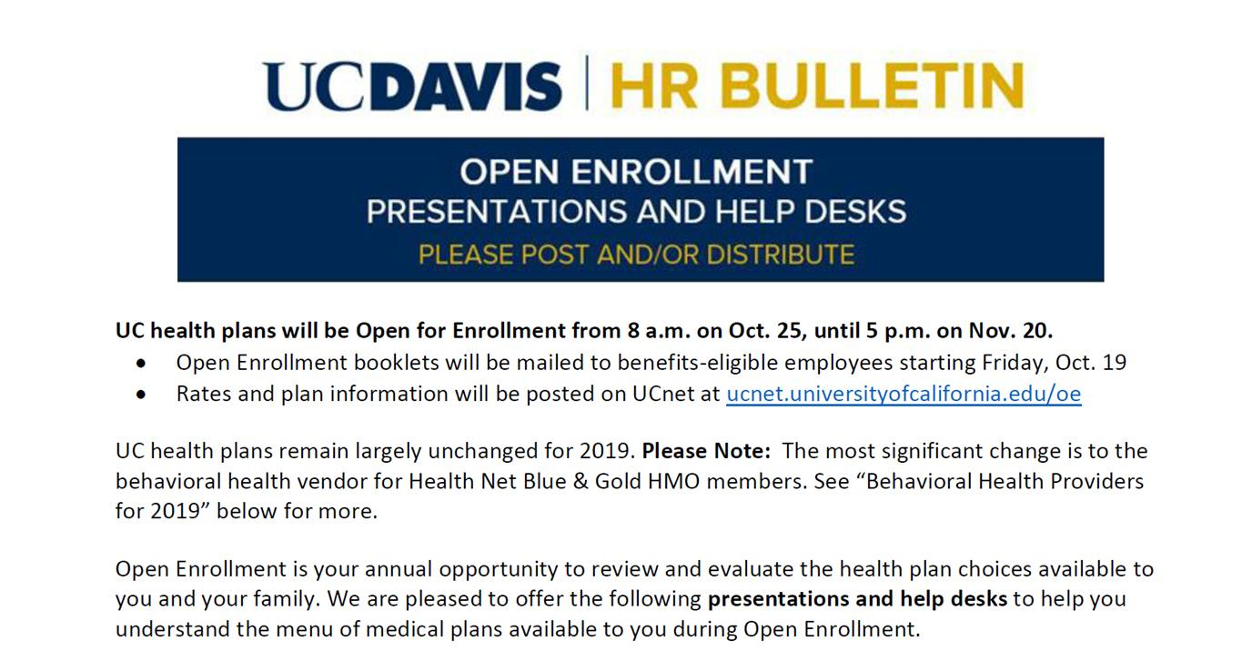 Open Enrollment Help Desks feauturing Employee Benefits