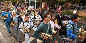 Pajamarino Parade and Pep Rally