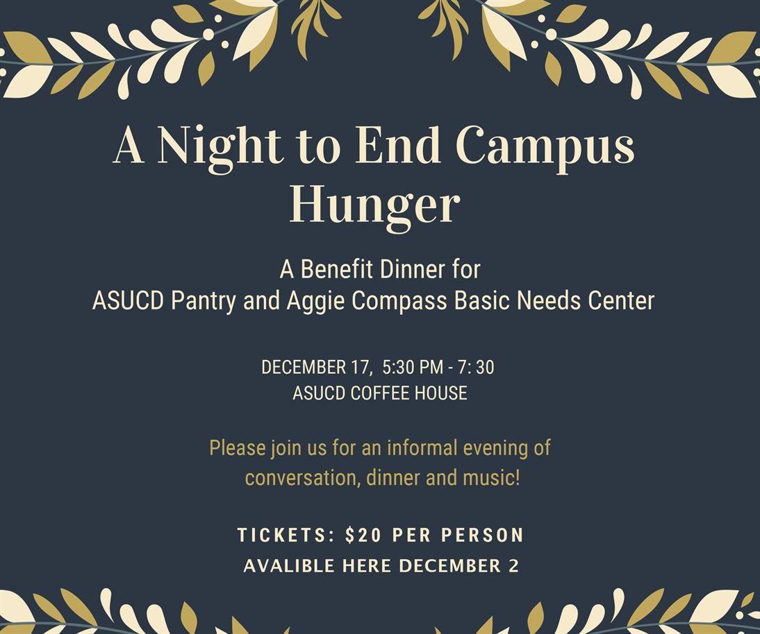 A Night to End Campus Hunger Benefit Dinner