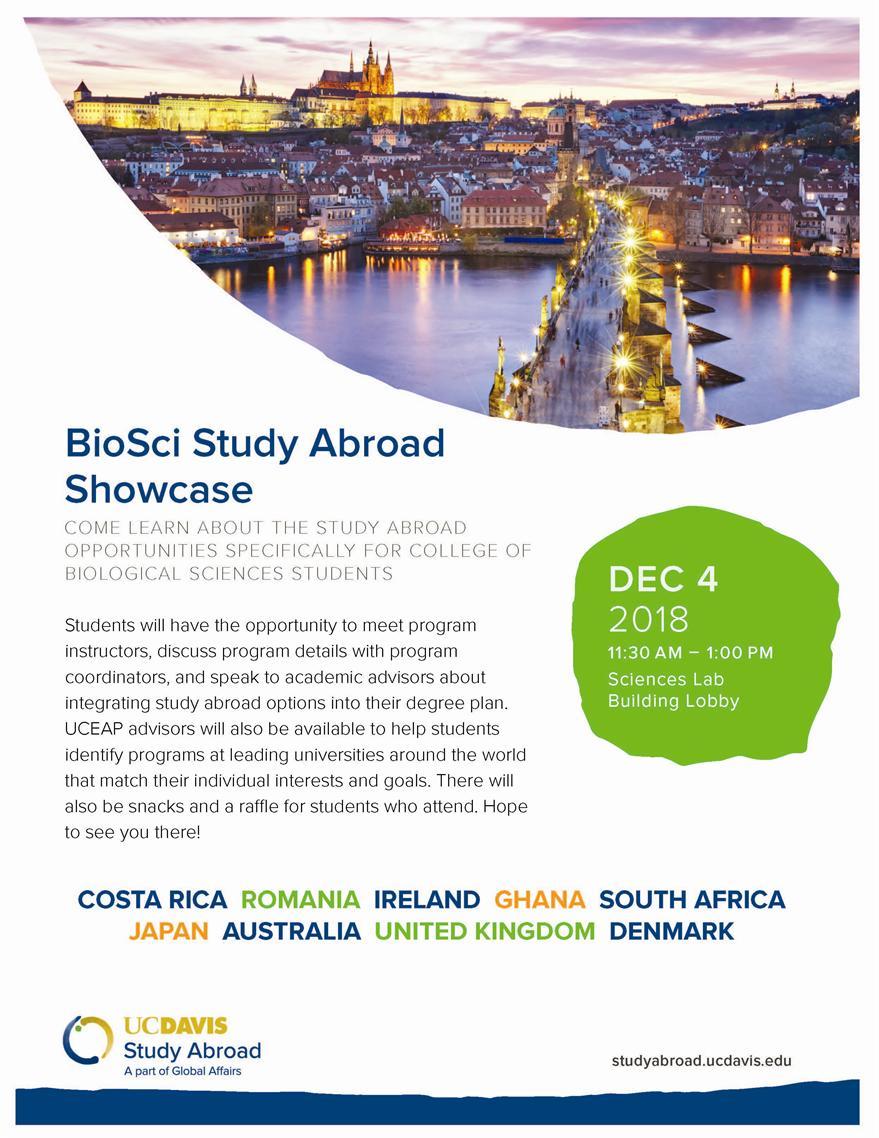 Bio Sci Study Abroad Showcase