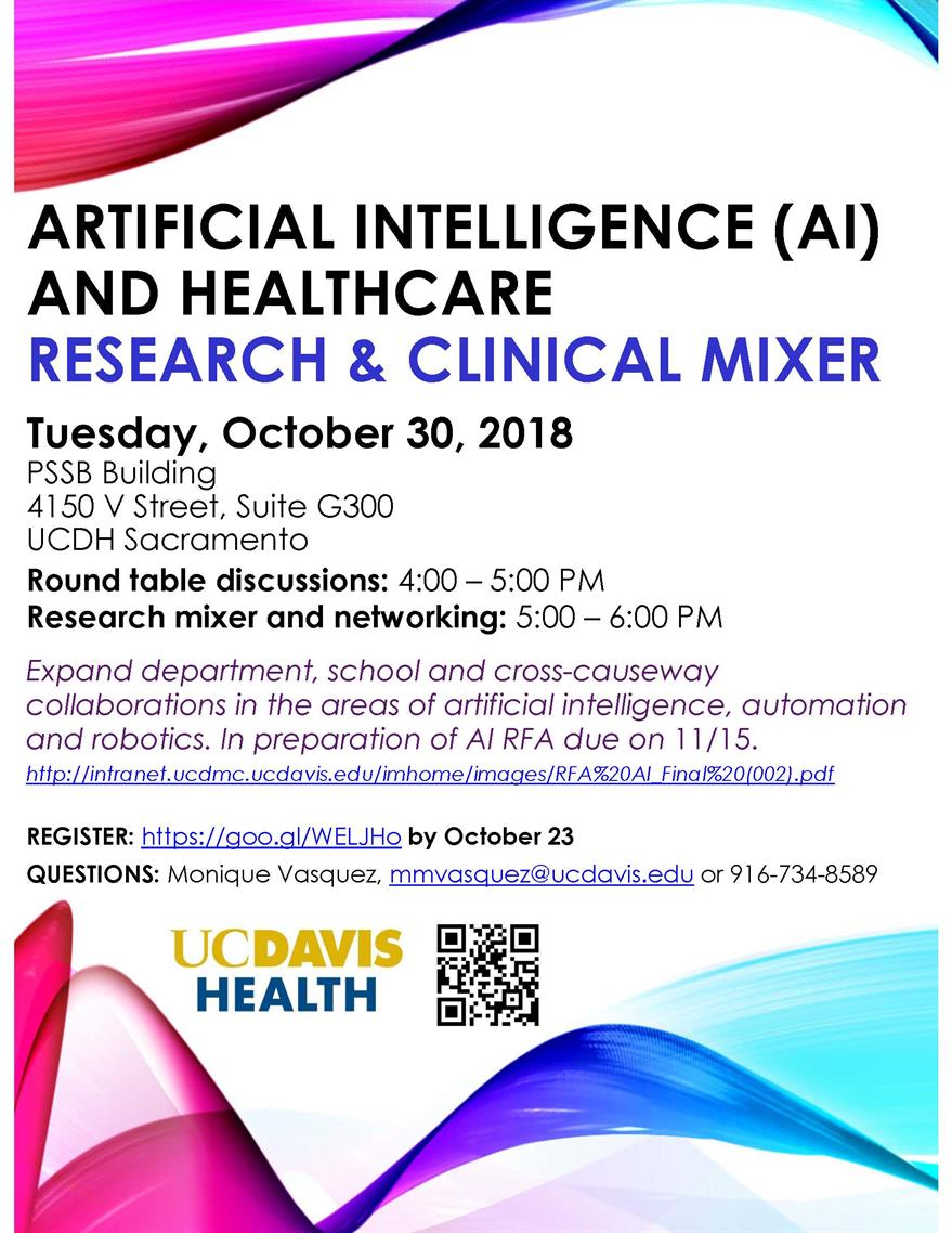 Artificial Intelligence and Healthcare Research and Clinical Mixer
