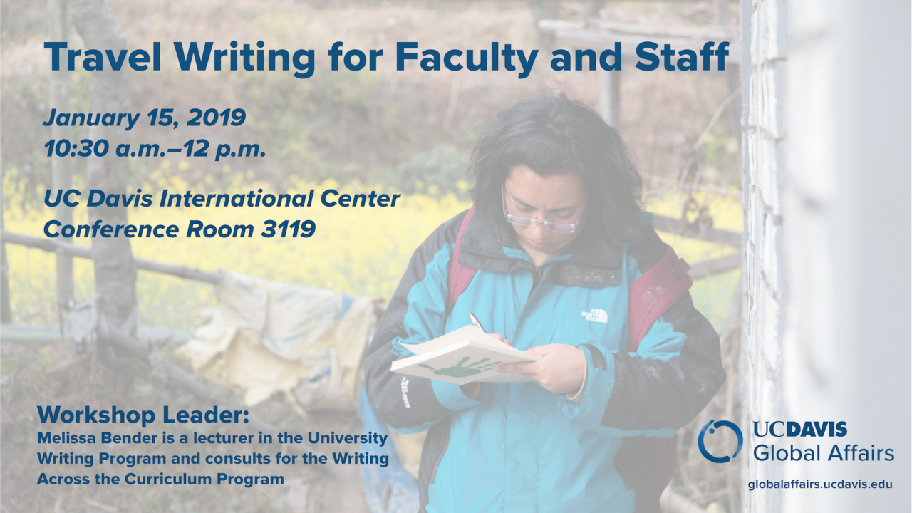 Travel Writing Workshop for Faculty and Staff