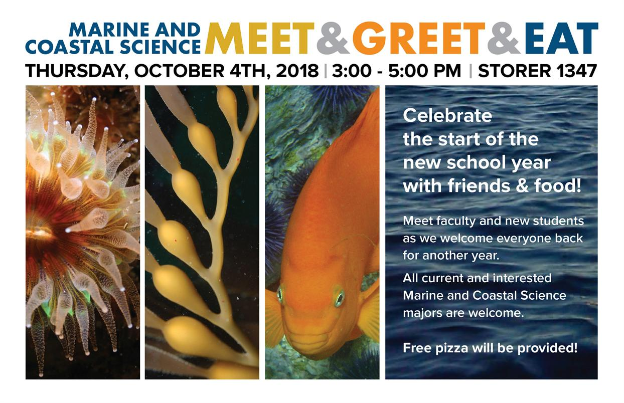 Marine and Coastal Science Meet & Greet & Eat